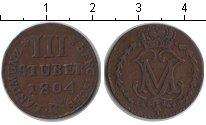 Изображение Монеты Берг 3 стюбера 1804 Медь VF