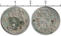 Изображение Монеты Нидерланды 2 стивера 1769 Серебро
