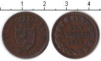 Изображение Монеты Нассау 1 крейцер 1856 Медь XF