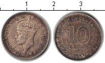 Изображение Монеты Малайя 10 центов 1941 Серебро