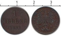 Изображение Монеты Франкфурт 1 хеллер 1856 Медь VF