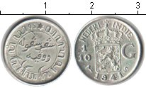 Изображение Монеты Нидерландская Индия 1/10 гульдена 1941 Серебро UNC-