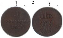 Изображение Монеты Бавария 1 пфенниг 1825 Медь VF