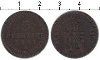 Изображение Монеты Анхальт-Бернбург 3 пфеннига 1861 Медь XF