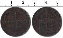 Изображение Монеты Пруссия 4 пфеннига 1851 Медь XF
