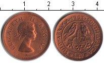 Изображение Монеты ЮАР 1/4 пенни 1953 Медь