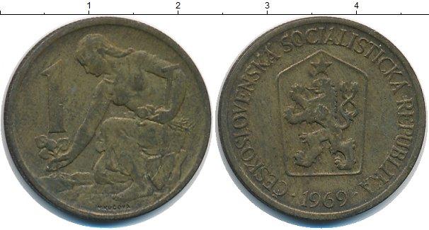 Картинка Дешевые монеты Чехословакия 1 крона  1969