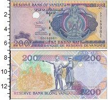 Изображение Боны Вануату 200 вату 0  UNC- Государственный герб