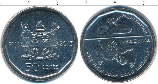 Картинка Мелочь Фиджи 50 центов Медно-никель 2013