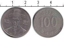 Изображение Дешевые монеты Южная Корея 100 вон 2000