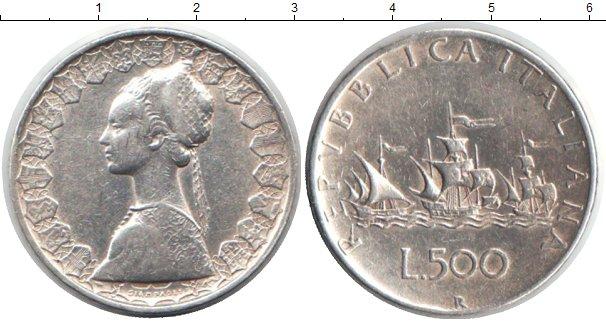 Картинка Монеты Италия 500 лир Серебро 0