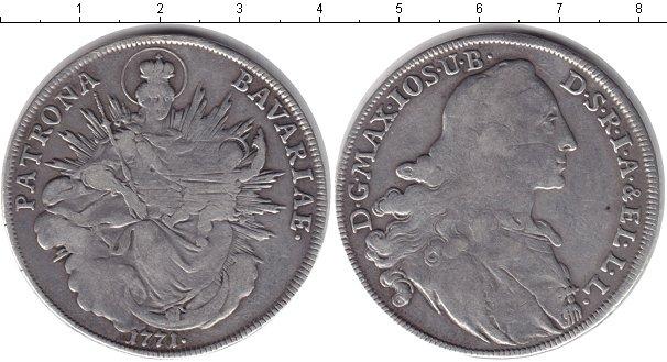 Картинка Монеты Бавария 1 талер Серебро 1771