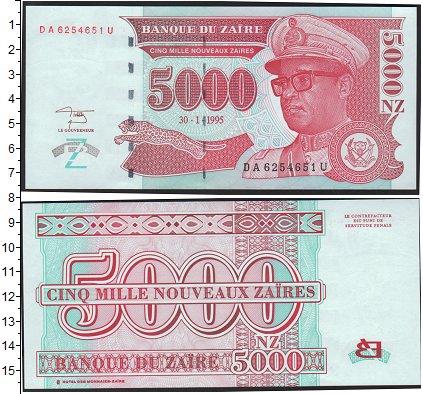 Картинка Боны Заир 5.000 заир  1995