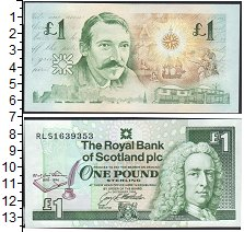 Изображение Боны Шотландия 1 фунт 1994  UNC- Портрет Стевенсона