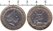Изображение Мелочь Великобритания 2  фунта 2014 Биметалл UNC-