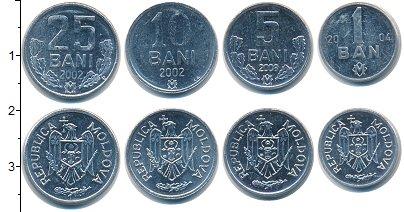 Изображение Наборы монет Молдавия Молдавия 2002-2008 0 Алюминий UNC- В наборе 4 монеты но