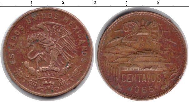 Картинка Монеты Мексика 20 сентаво  1966