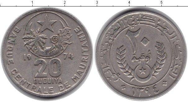 Картинка Монеты Мавритания 20 угий Медно-никель 1974
