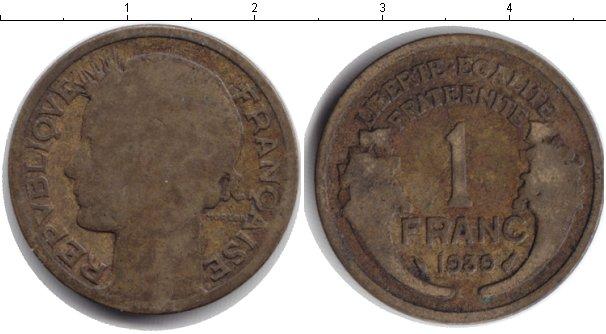 Картинка Монеты Франция 1 франк  1939