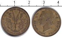 Изображение Монеты Западная Африка 5 франков 1956  XF