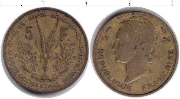 Картинка Монеты Западная Африка 5 франков  1956