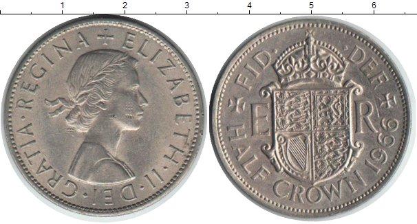 Картинка Монеты Великобритания 1/2 кроны Медно-никель 1966