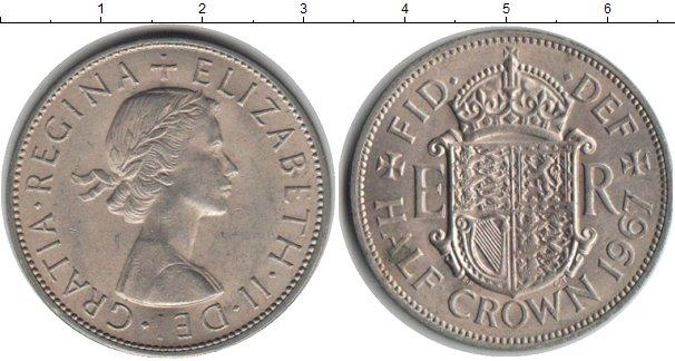 Картинка Монеты Великобритания 1/2 кроны Медно-никель 1967