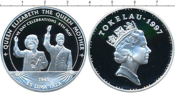 Картинка Монеты Токелау 5 тала Серебро 1997