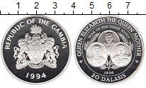 Изображение Монеты Гамбия 20 даласи 1994 Серебро Proof 1936-й - год трех ко