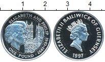Изображение Монеты Гернси 1 фунт 1997 Серебро Proof Елизавета II. Елизав