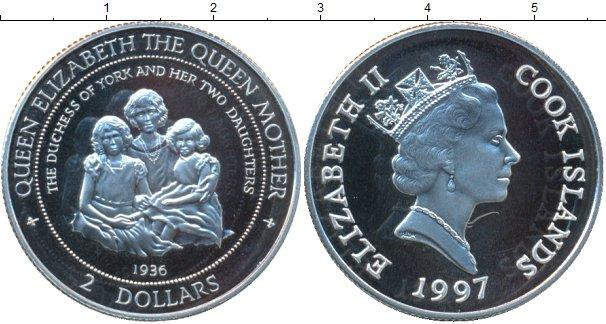 Картинка Монеты Острова Кука 2 доллара Серебро 1997