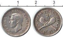Изображение Монеты Новая Зеландия 3 пенса 1942 Серебро XF