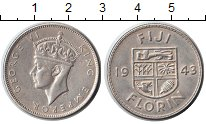 Изображение Монеты Фиджи 1 флорин 1943 Серебро XF
