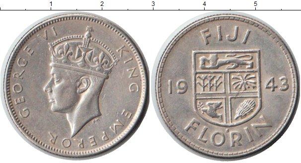 Картинка Монеты Фиджи 1 флорин Серебро 1943