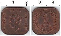 Изображение Монеты Малайя 1 цент 1941 Медь XF Георг VI