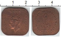 Изображение Монеты Малайя 1 цент 1941 Медь XF