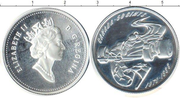 Картинка Монеты Канада 50 центов Серебро 1998