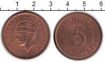 Изображение Монеты Сейшелы 5 центов 1948  UNC- Георг VI