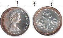 Изображение Монеты Остров Мэн 1/2 пенни 1975 Медно-никель XF Елизавета II. Цветы