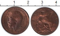 Изображение Монеты Великобритания 1 фартинг 1919  XF