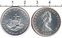 Изображение Монеты Остров Мэн 5 пенсов 1975 Медно-никель UNC- Елизавета II. Замок