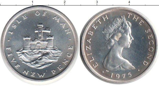 Картинка Монеты Остров Мэн 5 пенсов Медно-никель 1975