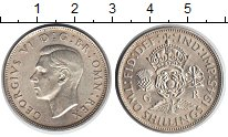 Изображение Монеты Великобритания 2 шиллинга 1945 Серебро UNC- Георг VI