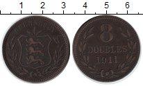 Изображение Монеты Гернси 8 дублей 1911  XF