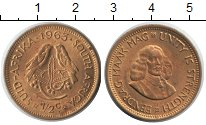 Изображение Монеты ЮАР 1/2 цента 1963  XF Ян ван Рибек