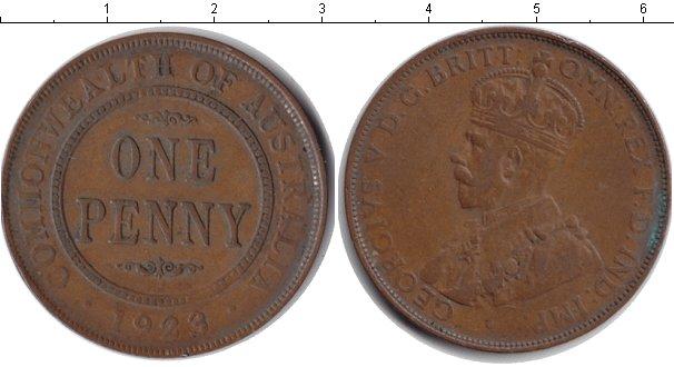Картинка Монеты Австралия 1 пенни  1923
