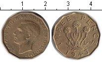 Изображение Монеты Великобритания 3 пенса 1943  XF Георг VI