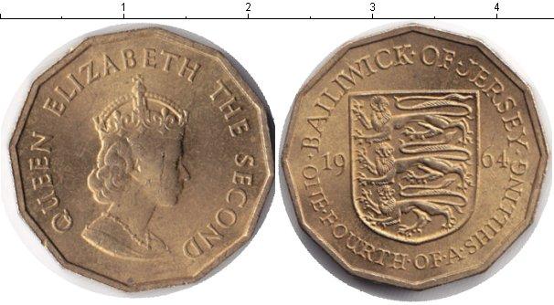 Картинка Монеты Остров Джерси 1/4 шиллинга  1964