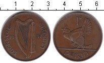 Изображение Монеты Ирландия 1 пенни 1937 Медь XF Квочка