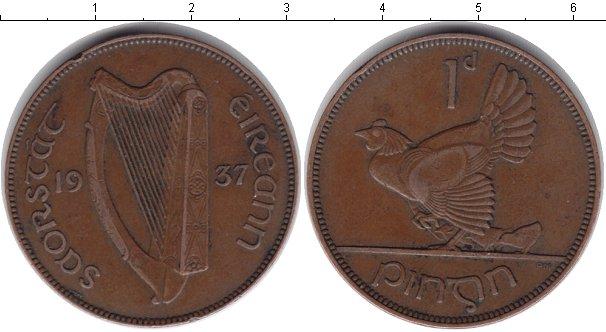 Картинка Монеты Ирландия 1 пенни Медь 1937